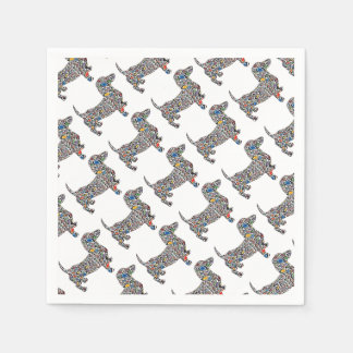 Psychedelic-Cheetah-Doxie Paper Napkin
