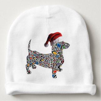 Psychedelic-Cheetah-Doxie-Santa Baby Beanie