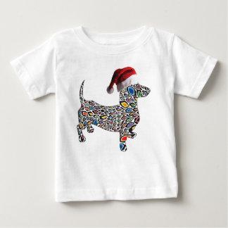 Psychedelic-Cheetah-Doxie-Santa Baby T-Shirt