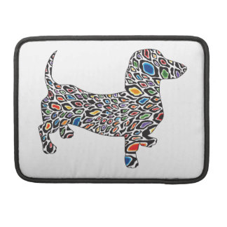 Psychedelic-Cheetah-Doxie Sleeve For MacBooks
