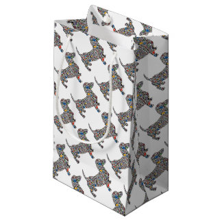 Psychedelic-Cheetah-Doxie Small Gift Bag