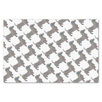 Psychedelic-Cheetah-Doxie Tissue Paper