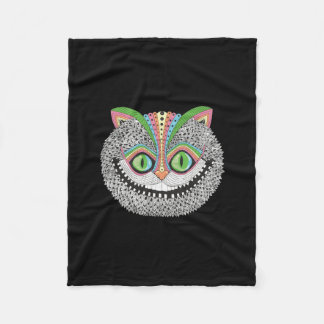 Psychedelic Cheshire Cat Fleece Blanket