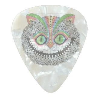 Psychedelic Cheshire Cat Pearl Celluloid Guitar Pick