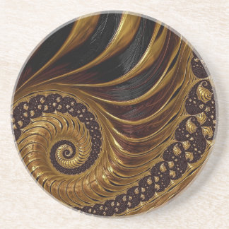 Psychedelic Chocolate Fractal Coaster
