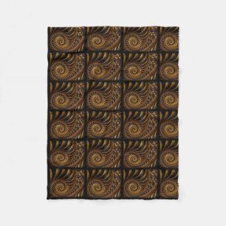 Psychedelic Chocolate Fractal Fleece Blanket