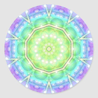 Psychedelic Circle Round Sticker