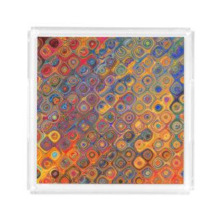 Psychedelic Circles Acrylic Tray