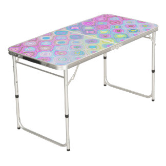 Psychedelic Circles Beer Pong Table