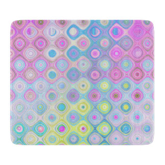Psychedelic Circles Cutting Board
