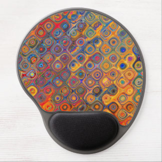 Psychedelic Circles Gel Mouse Pad