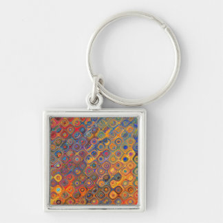 Psychedelic Circles Keychain