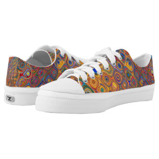 Psychedelic Circles Low-Top Sneakers