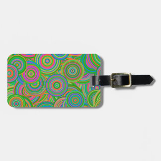Psychedelic Circles Luggage Tag