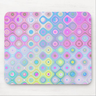 Psychedelic Circles Mouse Pad