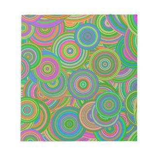 Psychedelic Circles Notepad