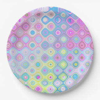 Psychedelic Circles Paper Plate