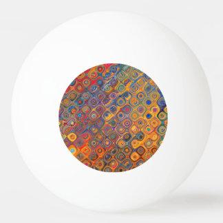 Psychedelic Circles Ping Pong Ball