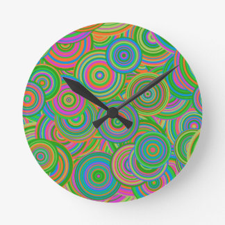 Psychedelic Circles Round Clock