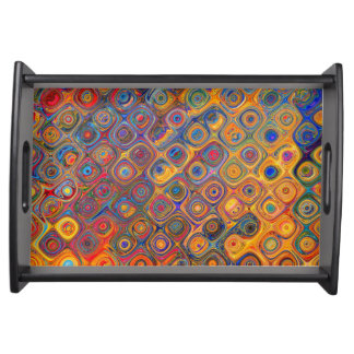 Psychedelic Circles Serving Tray