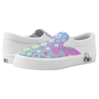 Psychedelic Circles Slip-On Sneakers