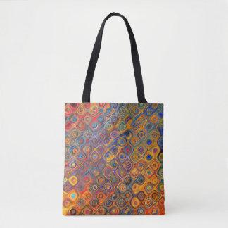 Psychedelic Circles Tote Bag