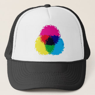 Psychedelic CMYK Trucker Hat