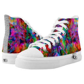 Psychedelic Color Swirl High Tops