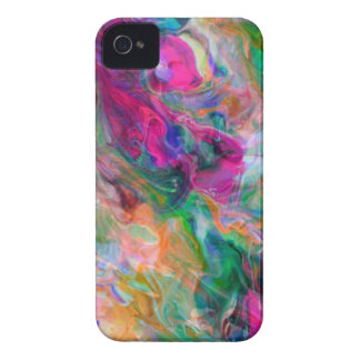 Psychedelic Color Swirl iPhone 4 Case