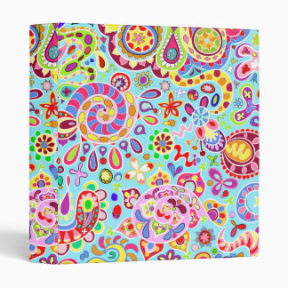 Psychedelic Colorful Art Binder