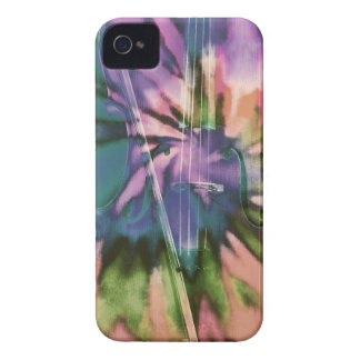 Psychedelic colorful cello iPhone 4 cases