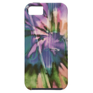 Psychedelic colorful cello iPhone 5 cases