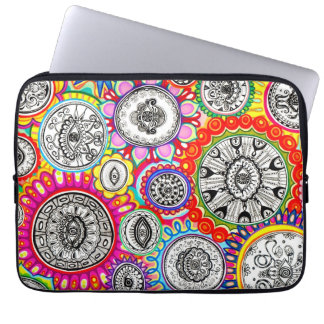 Psychedelic Colorful Cosmic Laptop Sleeve