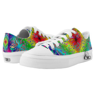 Psychedelic Colorful Low Top Shoes