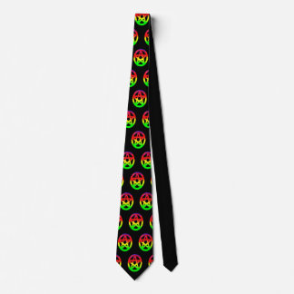 Psychedelic Colorful Pentacles Tie