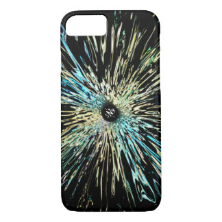 Psychedelic colorful sketch of an iris iPhone 8/7 case