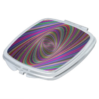 Psychedelic colors makeup mirrors