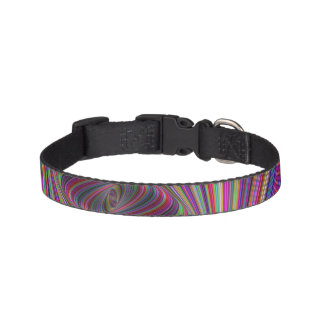Psychedelic colors pet collars