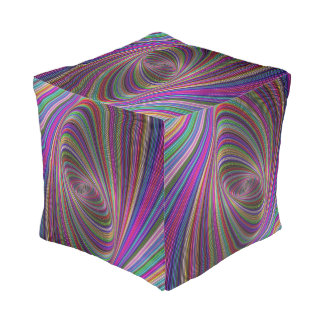 Psychedelic colors pouf