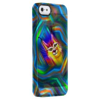 Psychedelic Colour Flow Lynx Portrait Clear iPhone SE/5/5s Case