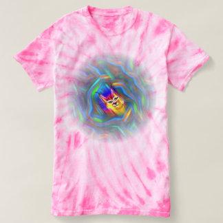 Psychedelic Colour Flow Lynx Portrait Shirt