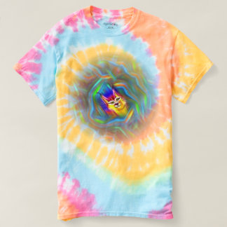 Psychedelic Colour Flow Lynx Portrait T-shirt