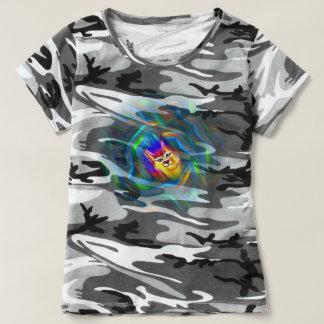 Psychedelic Colour Flow Lynx Portrait T Shirt