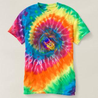 Psychedelic Colour Flow Lynx Portrait T-shirt