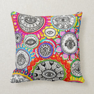 Psychedelic Cosmic Eyes Art Pillow