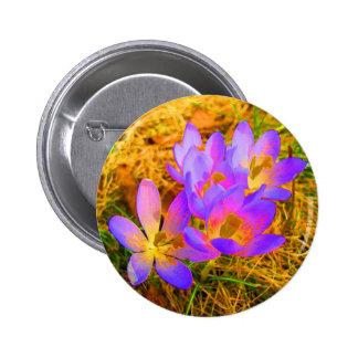 Psychedelic Crocus 2 Inch Round Button