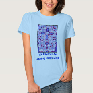 Psychedelic Cross  Fractal T-Shirt