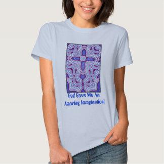 Psychedelic Cross  Fractal T-Shirt