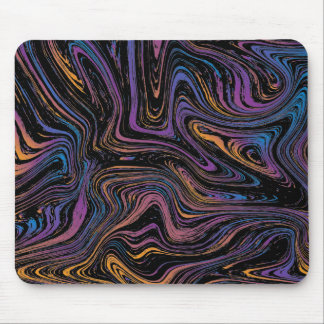 Psychedelic Current Swirl Mouse Pad