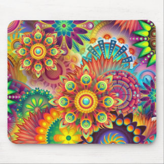 Psychedelic Customized Mousepad, Tie Dye Mouse Pad